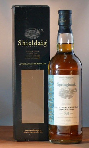 Springbank 36 year old whisky