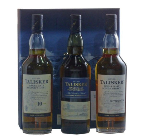 Talisker Three Bottle Gift pack Scotch Whisky