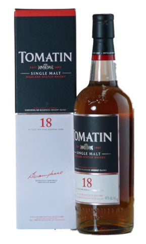 Tomatin 18 year old whisky