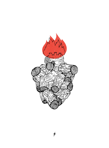 Wood Heart Icon