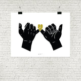 Pinky Swear - Black and Gold