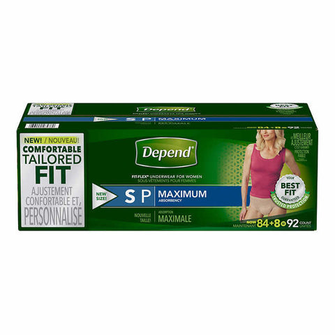 Depend Underwear For Women S, 92 units
