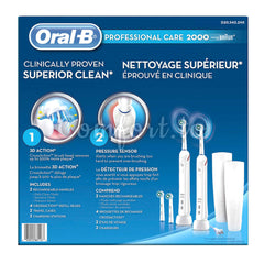 Oral-B Pro 2000 Electric Rechargable Toothbrush 2-Pack With 4 Refills, 2 units
