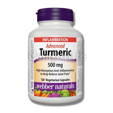 Webber Naturals Advanced Turmeric, 500Mg, 120 capsules
