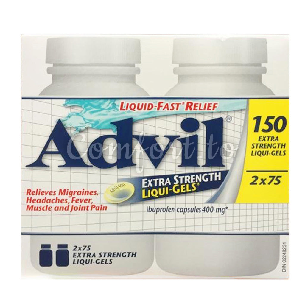 Advil Extra Strength Liqui–Gels 400Mg, 2 x 75 tablets