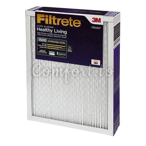 Filtrete MPR 1500 16 X 25 X 1 Healthy Living Ultra Allergen Reduction Hvac Air Filter - 3 units