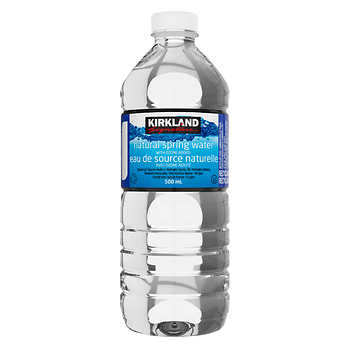 Kirkland Signature Natural Spring Water, 40 x 500 mL