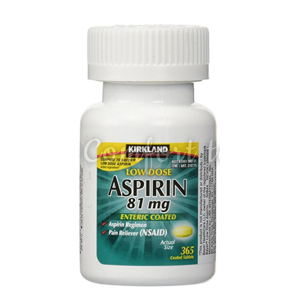 Kirkland Low Dose Aspirin 81 mg, 365 tablets