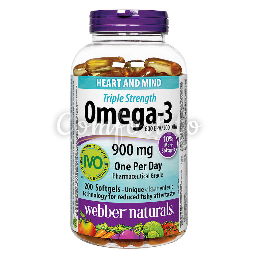 Webber Naturals Triple–Strength Omega–3, 200 softgels