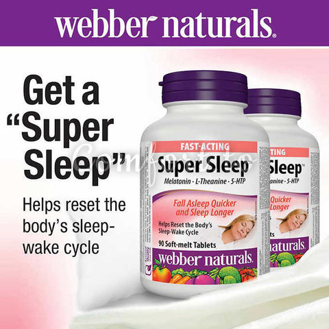 Webber Naturals Super Sleep, 90 tablets