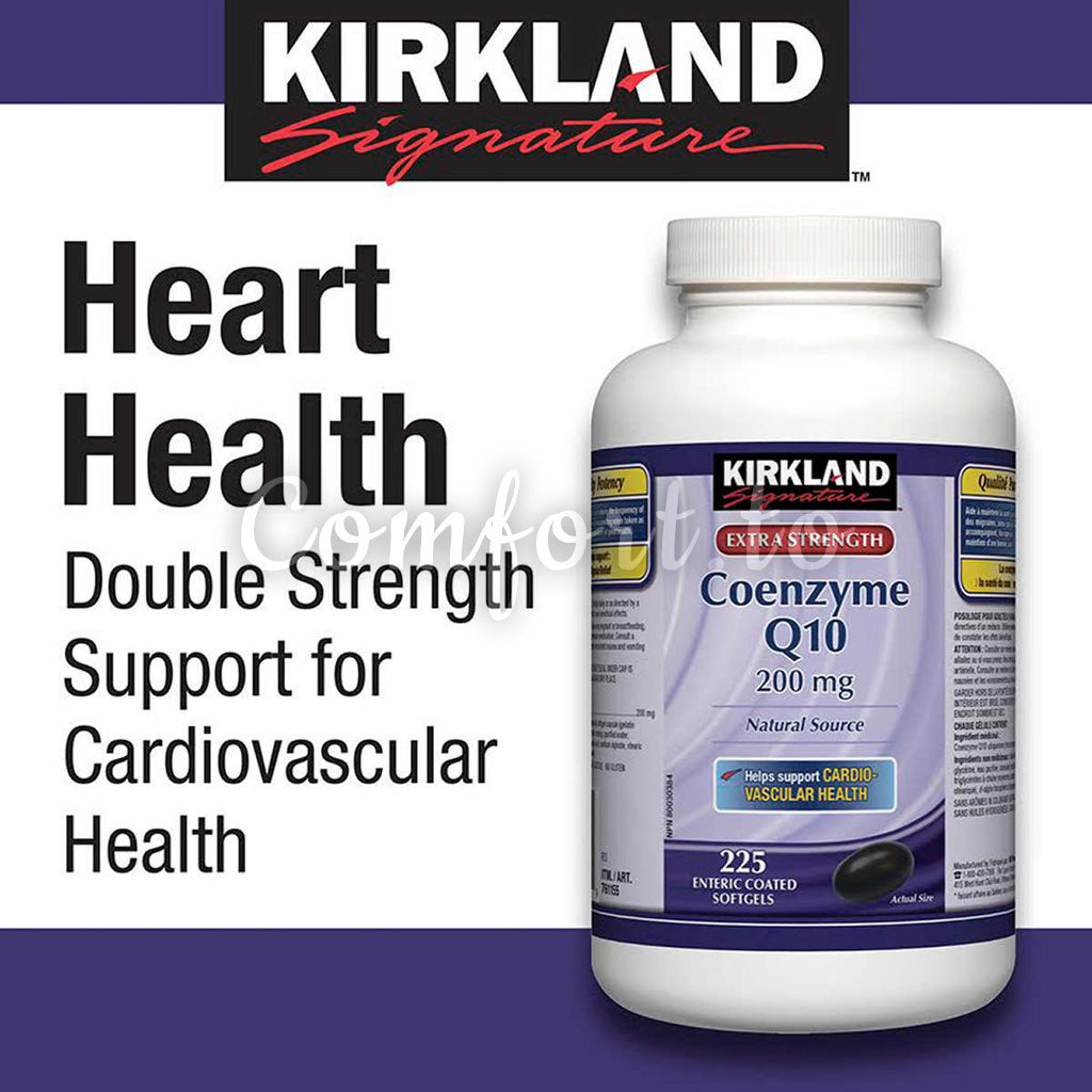 Kirkland Signature Coenzyme Q10 Natural Source 200 mg, 225 softgels
