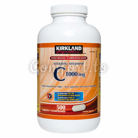 Kirkland Signature Timed Release Vitamin C 1000 mg, 500 mg