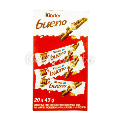 Kinder Bueno Milk Chocolate Wafers, 20 x 43 g