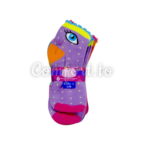 Trimfit Girls Cotton Socks Size 4 to 10, 8 pairs