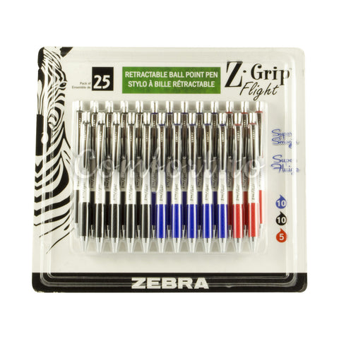 Z-Grip Retractable Ball Point Pen, 25 pens