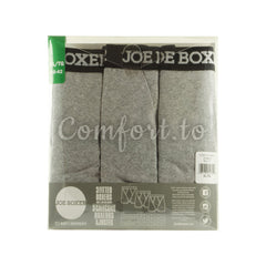 Joe Boxer Men's Fitted Boxers Grey Size XL, 3 pairs