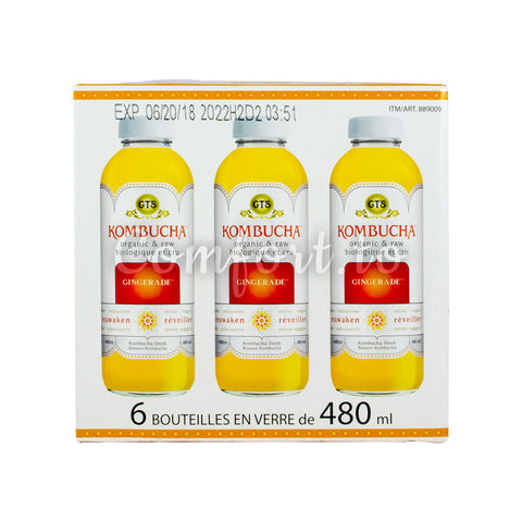 $6 OFF - Gt's Kombucha Gingerade, 6 x 480 mL
