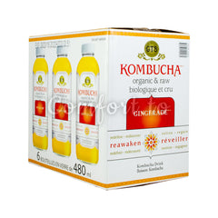 Gt's Kombucha Gingerade, 6 x 480 mL
