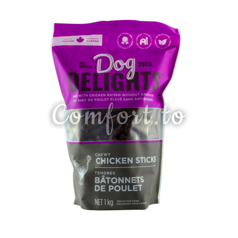 Dog Delights Chewy Chicken Sticks, 1 kg