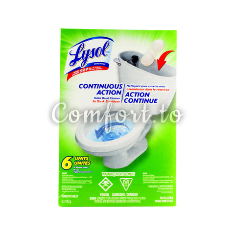 Lysol Toilet Action Puck in Tank Toilet Bowl Cleaner, 6 x 100 g