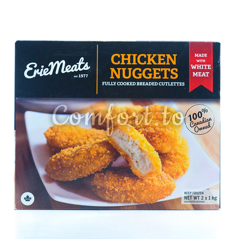 Frozen Erie Meats Chicken Nuggets Fully Cooked, 2 x 1 kg