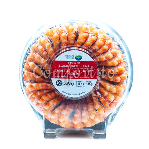 Frozen Diamond Harvest Cooked Black Tiger Shrimp, 539 g