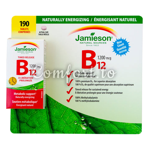 $5 OFF - Jamieson Vitamin B12 1200 Mcg , 190 tablets