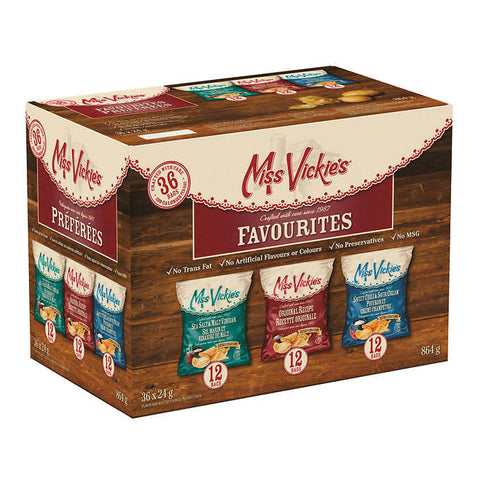 FritoLay Miss Vickie's Variety Pack, 36 x 24 g