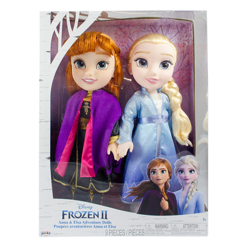 Disney Frozen II Anna & Elsa Adventure Dolls, 1 set