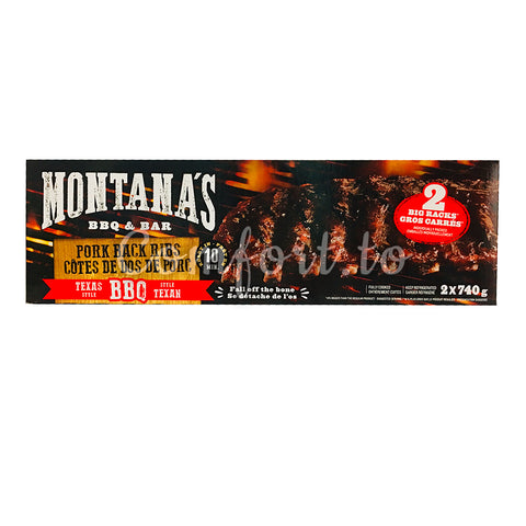 Montana's Texan BBQ Pork Back, 2 x 740 g