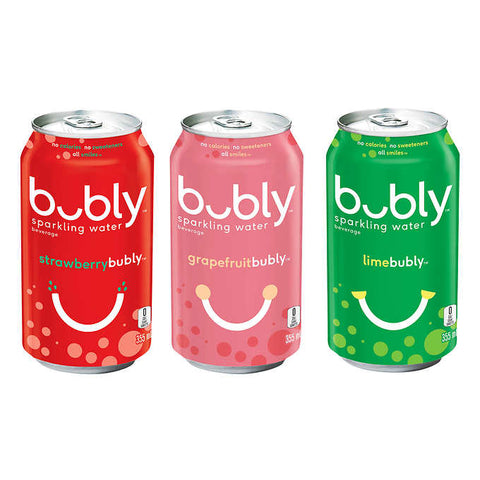 Bubly Variety Pack, 24 x 355 ml