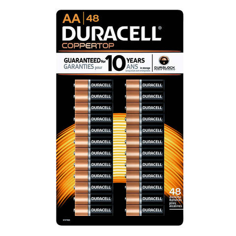 Duracell AA Batteries, 48 units