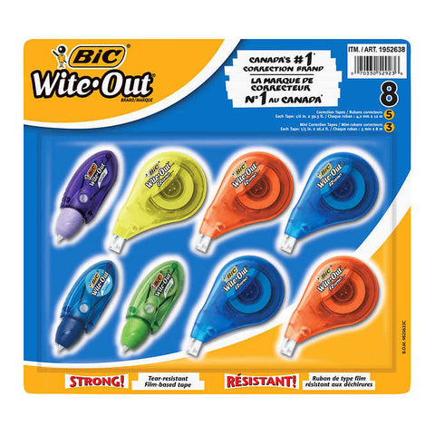 BIC Wite-Out, 8 units