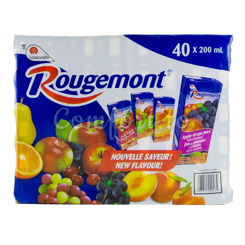 Rougemont Juice Variety Pack, 40 x 200 mL