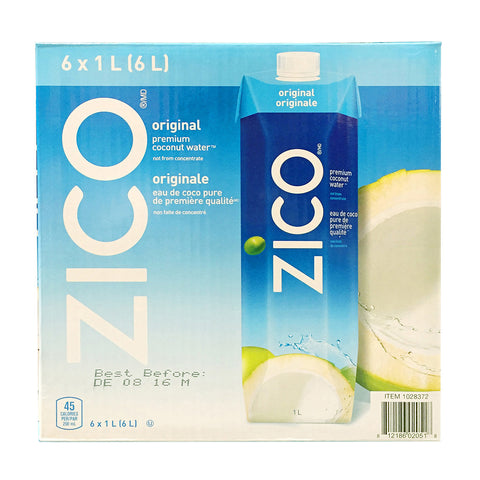 Zico Coconut Water, 6 x 1 L