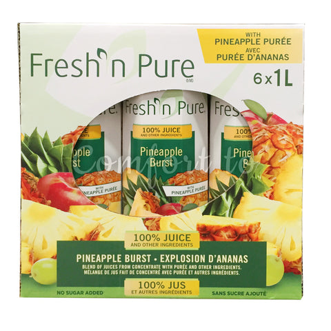 Fresh n Pure Pineapple Juice Multipack, 6 x 1 L