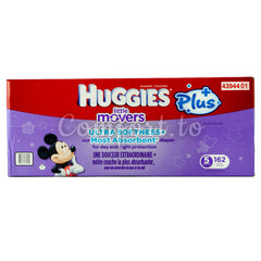 Little Movers 5 Diapers - 162 diapers