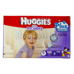 Huggies Little Movers 6 Diapers, 120 diapers