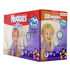 Little Movers 6 Diapers - 120 diapers