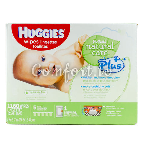 $7 OFF - Huggies Natural Care Wipes, 1160 wipes