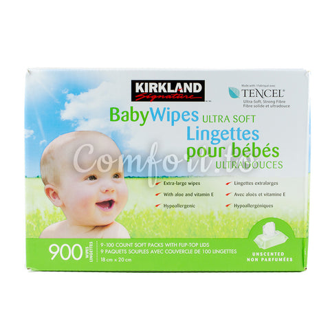 Kirkland Baby Wipes Ultra Soft - 900 wipes