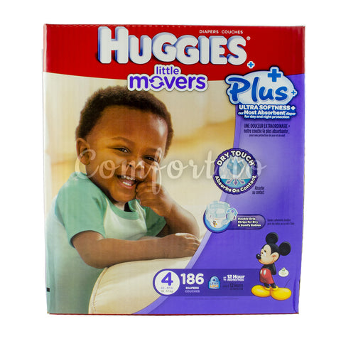 $10 OFF - Huggies Little Movers 4 Diapers, 186 diapers