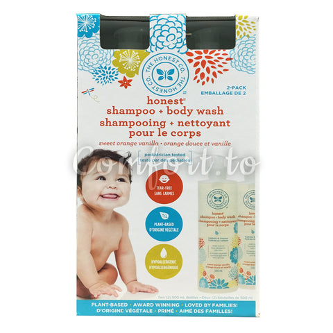 The Honest Co Baby Shampoo + Body Wash Pack, 1 L