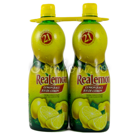 Real Lemon Lemon Juice, 2 x 0.9 L