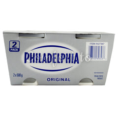 Philadelphia Original Cream Cheese Small, 2 x 0.5 kg