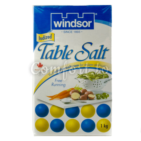 Windsor/Sifto Table Salt, 3 x 1 kg