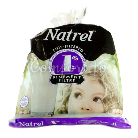 Natrel Partly Skimmed Milk 1%, 3 x 1.3 L