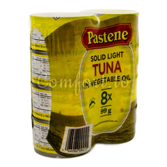Pastene Solid Light Tuna in Vegetable Oil, 8 x 99 g