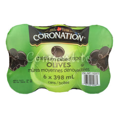 Coronation Medium Pitted Olives Ripe - 2.4L