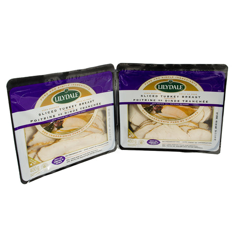 Lilydale Sliced Oven Roasted Turkey Breast, 2 x 400 g